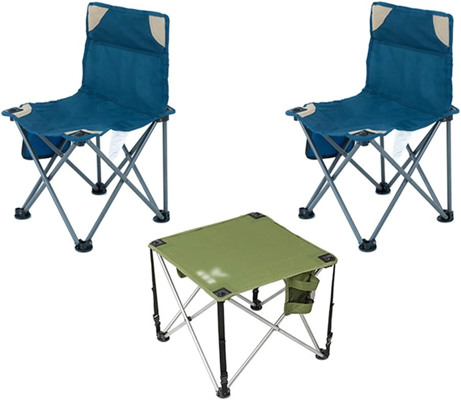 Portable Folding Chair and Table, Ultralight Camping Chairs Suitable for Outdoor Camp, Travel, Beach, Picnic, Festival, Hiking