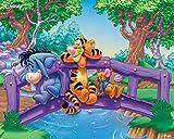 Winnie The Pooh Tigger Puzzle Madera 1000 Piezas Para Adultos Rompecabezas, Intelectual De Descompresión,Juguete Educativo, Regalo De Cumpleaños, 75 * 50 Cm