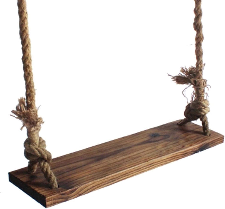 Klettergerte & Schaukeln Schaukeln Hlzerner Schaukel-Stuhl-Aufzug der Erwachsenen einfachen Schwingen-festen Holz-Brett der Familien-Kindergarten-Garten-im Freien Schaukeln (Gre   110cm)