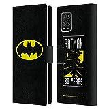 Head Case Designs Licenciado Oficialmente Batman DC Comics Clásico Logotipos Carcasa de Cuero Tipo Libro Compatible con Xiaomi Mi 10 Lite 5G