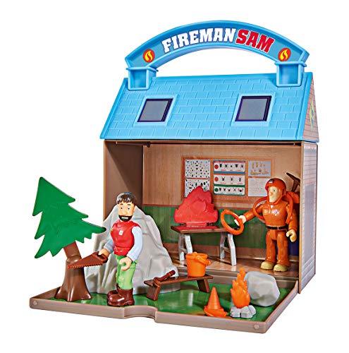 Simba - Sam le Pompier - Playset Secours Montagne + Figurines - Poignée de Transport - Nombreux Accessoires Inclus - 109251032002