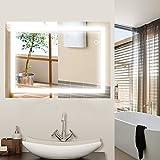 wefun LED Miroir de Salle de Bain Miroir Mural avec éclairage commutateur Tactile...
