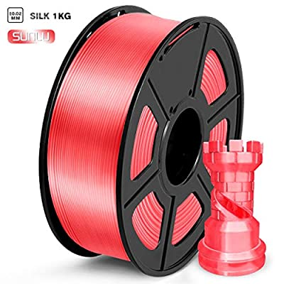 SUNLU PLA Filament 1.75mm, Silk Candy Dandy 3D Printer Filament, 1KG 2.2 LBS Spool, Shiny Metallic PLA Silk Filament