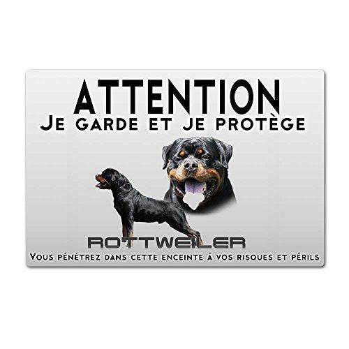 Pets-easy Panneau Attention au Chien Chien Rottweiler