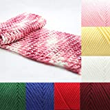 Lai-LYQ Hilados De Lana De Punto, 100g DIY Inicio Hilados De Lana Coloridos Prendas De Punto De Algodón Suave Crochet Tejido A Mano Rosa Claro