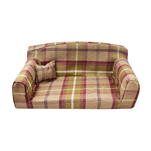 Heather Royal - Pet Sofa. 3 sizes Dog bed. High quality cover material. Made in UK (Large 96 x 64 x 34 cm)
