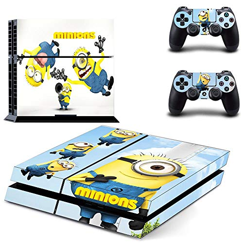 TSWEET Minions Style Ps4 Skin Sticker for Playstation 4 Console & 2 Controllers Decal Vinyl Protective Skins