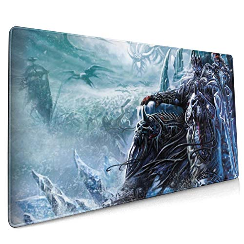 World of Warcraft Lich King Mouse Pad Rectangle Non-Slip Rubber Electronic Sports Oversized Large Mousepad Gaming Dedicated,for Laptop Computer & PC 15.8X35.4 Inch