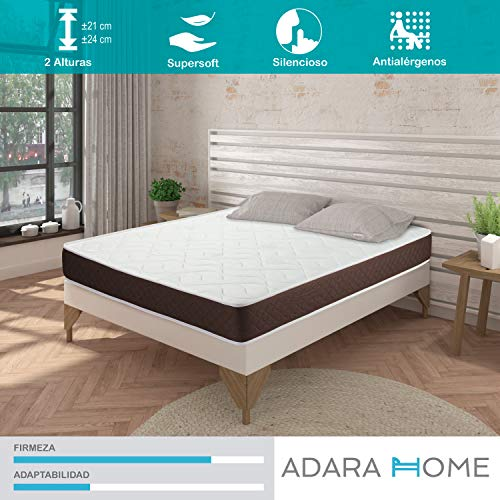 Adara Home Tempo - Colchón Viscoelástico 120x180, Altura 24cm