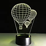 Forma Globo de fútbol Globo de aire caliente Tiburón Pescado Luz nocturna 3D Control táctil colorido Control remoto Led Luz visual Decoración de regalo Lámpara de mesa estéreo -Ac-B