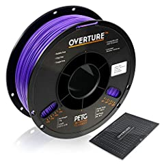 【1 kg PETG Spool x 1 & Build Surface x 1】 Each PETG spool comes with 1 piece of quality 200 × 200 mm / 7.88'' × 7.88'' build surface to support Overture filaments. Grid layout on the surface for easy resizing 【Clog-free & Bubble-Free】Designed and Man...