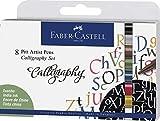 Faber-Castell 167508 - Set di 8 penne per calligrafia, 2,5 mm, multicolore