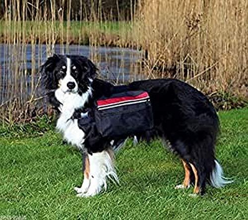 Trixie 30103 rugzak voor honden, L: 28 × 18 cm, zwart