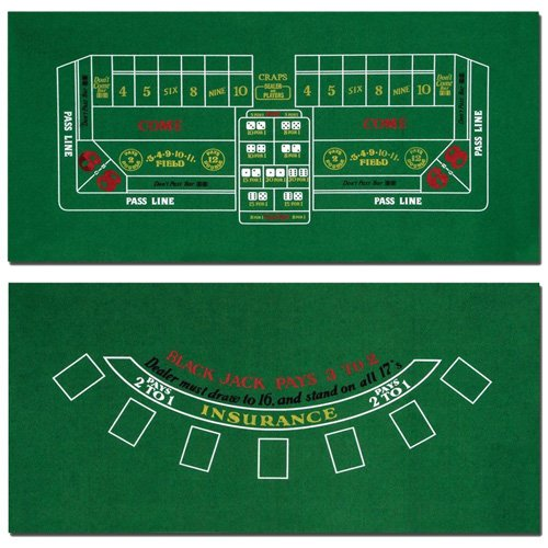 Brybelly Blackjack and Craps Table Felt, 72