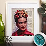 Nacnic Poster de Frida Kahlo. Láminas de personajes importantes. Posters de músicos, actores, inventores, exploradores, ... Tamaño A4