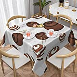 ojyhgar Aesthetics of Chocolate Candy Tablecloths, Waterproof & Stain Resistant Square Decorative Tablecloth Picnic Tablecloth Cloth Suitable for Restaurants and Buffet Parties