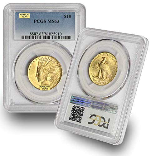 1907-1933 (Random Year) Gold Indian Head Coin G$10 MS63 PCGS
