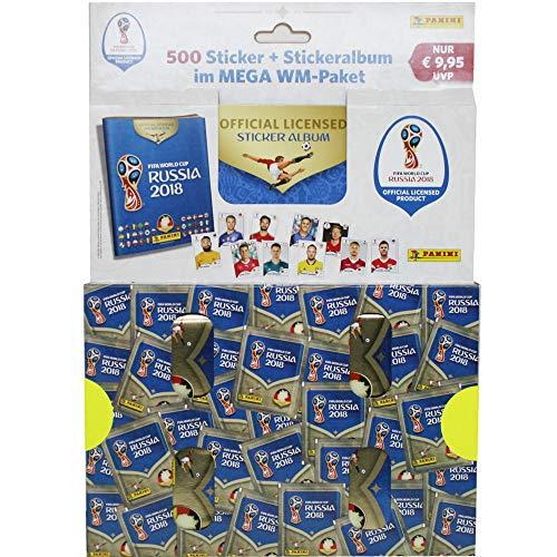 Panini WM Russia 2018 - Sammel Sticker - 1 Mega WM-Paket