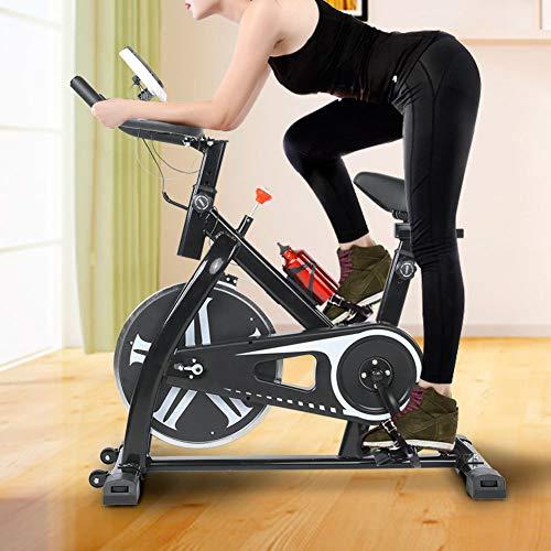 Cyclette da Casa,Cardio cyclette silenziosa,Fitness bici,Max. 120 kg, Display LCD,Sella Regolabile,Misuratore di velocità,Display a cristalli liquidi,Cardiofrequenzimetro,monitor delle calorie