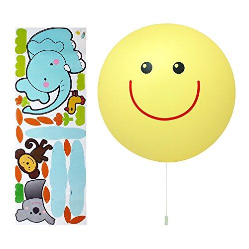 Opus Kids Smiling Sun Sticker LED Wandlamp - Werkt op batterijen