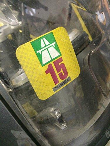 Clear-Screen Träger Klebefolie Untergrund für 1 x Vignette, für Motorrad-Verkleidungen u.a.