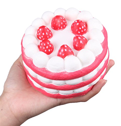 "Anboor 4.33"" Squishies Jumbo Slow Rising Kawaii Sweet Scented Strawberry Squishies Cake 1 Pcs Color Random"