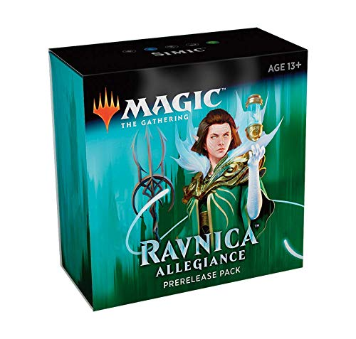 Magic The Gathering: Ravnica Allegiance Prerelease Pack Simic (Pre-Pelease Promo + 6 Boosters + d20 Spindown Counter) Kit