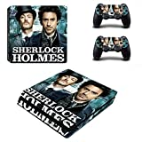 WANGPENG Sherlock Holmes PS4 Slim Skin Sticker Decal for Playstation 4 Console And 2 Controller PS4 Slim Skins Sticker Vinyl