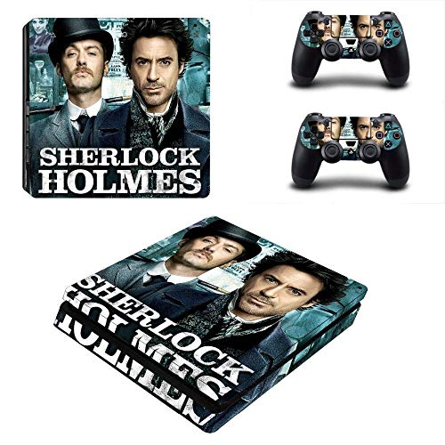 FENGLING Sherlock Holmes Ps4 Slim Skin Sticker Decal per Playstation 4 Console e 2 Controller Ps4 Slim Skin Sticker Vinile