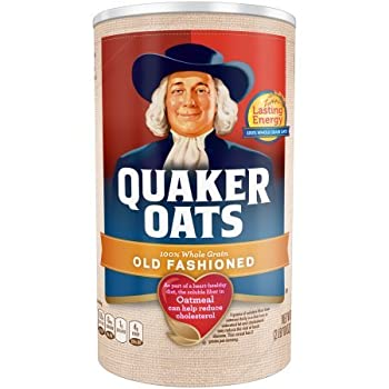 Quaker Oats Old Fashioned Oatmeal Breakfast Cereal 42 Oz  2 Canisters