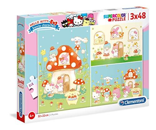 3 Puzzles 48 Piezas Hello Kitty (25246.6)