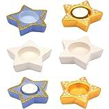 Baker Ross Star Teelichthalter aus Keramik, ideal für Weihnachten, Kinderkunst, Basteln und Dekorieren für Jungen und Mädchen (4 Stück)