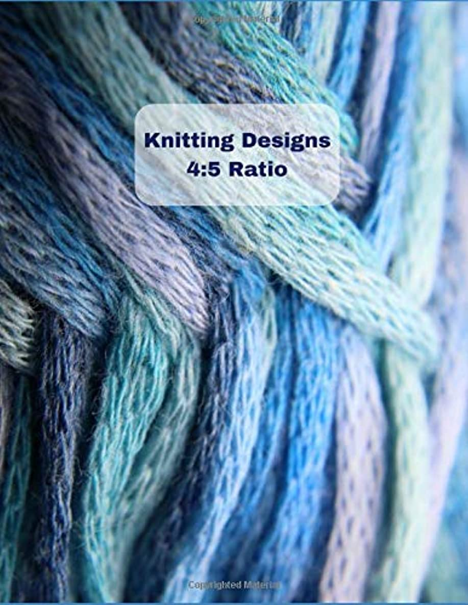 浜辺船登るKnitting Designs 4:5 Ratio: Knit Graph Paper Journal For Knitting Patterns