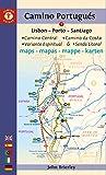 Camino Portugues Maps: Lisbon - Porto - Santiago / Camino Central, Camino De La Costa, Variente Espiritual & Senda Litoral (Camino Guides) [Idioma Inglés]