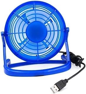 TRIXES Ventilador con Conexión al Ordenador por USB para Sobremesa - Pequeño - Silencioso - Azul - para Refrescarse en los Días Calurosos en Una Cálida Oficina