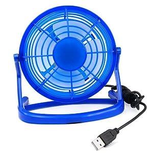 TRIXES Mini Blue Portable USB Powered Desktop Cooling Fan Computer Office Laptop Quiet
