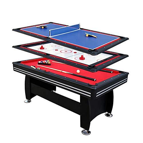 MYRCLMY Beliebte Spieltische, 3 in 1 Multi-Use-Spieltisch Kompaktkombination Game-Tische Mini-Spiel-Tische Foosball-Tisch-Lufthockey-Tischbecken-Tisch Mini-Tisch Für Kinder Erwachsene