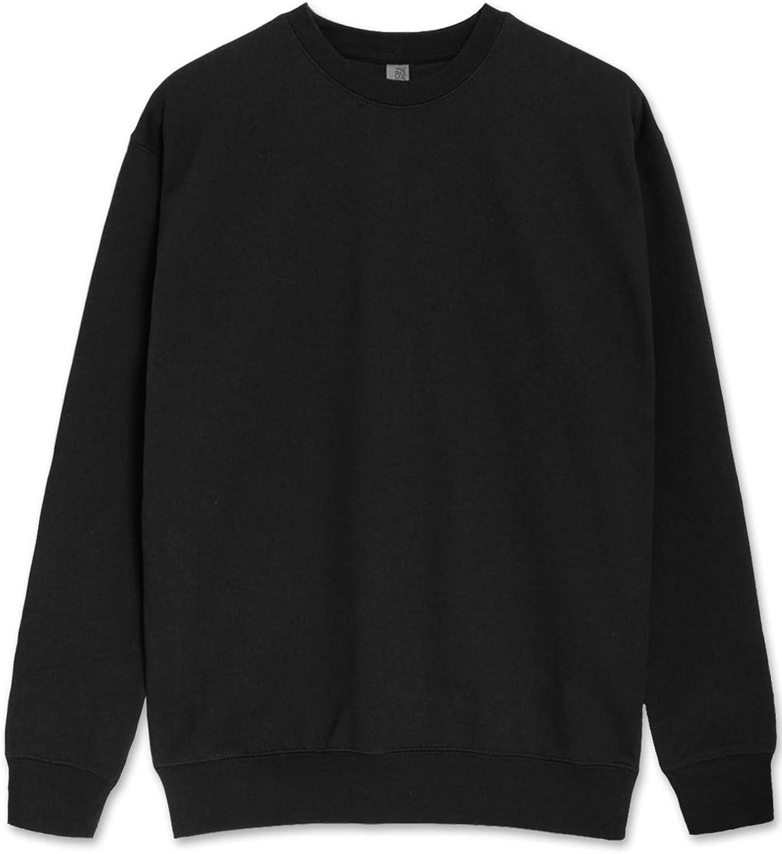 JC DISTRO Mens Basic Sweatshirt Los Angeles Mall Casual Crewneck Shipping included Fleece