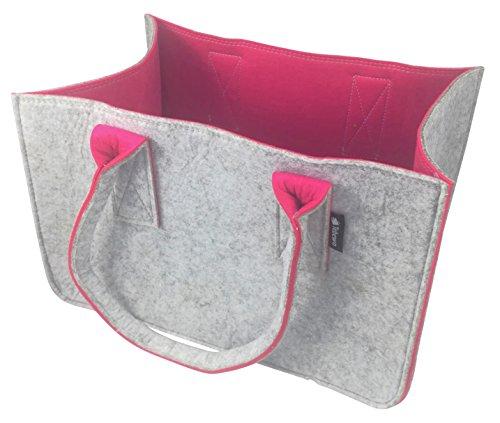 Shopping-Bag aus Filz, große Einkaufs-Tasche mit Henkel, Einkaufskorb, faltbare Kaminholztasche zur Aufbewahrung von Holz, vielseitige...