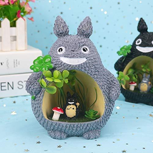 Preisvergleich Produktbild YCEOT Totoro Resin Nachtlicht mit Sternenlicht Geld Sparschwein Nachtlampe Home Decor Valentine Kids Weihnachten Geburtstagsgeschenk