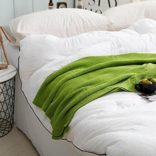 UKKD Bedsure Mantas para Sofás de Franela Cotton Thread Blanket Winter Bedspread on Bed Travel Airplane Sofa Plaid Home Decor Office Nap Blankets