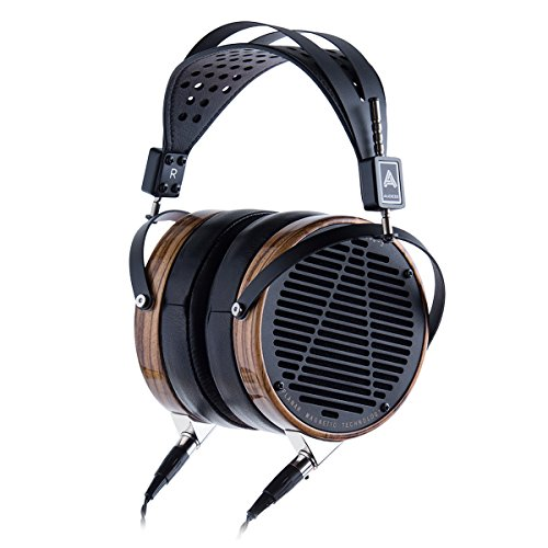 Audeze LCD-3 Over Ear Open Back Headphone Zebrano Wood Rings with New Suspension Headband … Leather Free