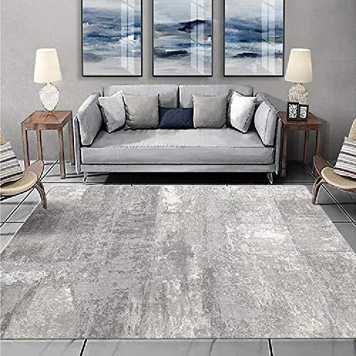 Alfombras Antideslizante alfombras El diseño de Tinta Negra Gris corredera no se desvanece la Alfombra Mesa recibidor alfombras oficinas 120*170CM