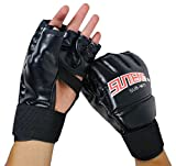 SUTENG MMA Muay Thai Training Punching Bag Half Mitts Sparring Boxing Gym Gloves