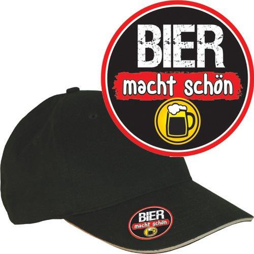 AV Andrea Verlag Base Caps (Bier Macht schön 32877) mit Metall Flaschenöffner und 3D Etikett Doming