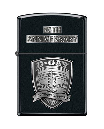 Zippo 70th D-Day Black Matte Windproof Pocket Lighter New