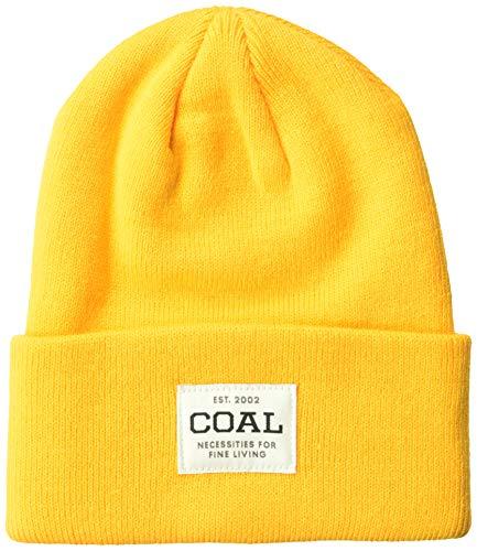 Coal Herren The Uniform Fine Knit Workwear Cuffed Beanie Hat Strickmütze, Gold, Einheitsgröße