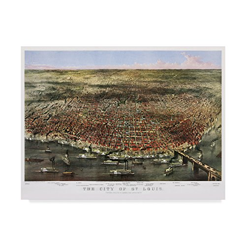 1874 City Of St. Louis by Vintage Lavoie, 14x19-Inch
