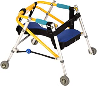Directional Four-Wheeled Children's Cerebral Palsy walker Lower Limb Rehabilitation Soft and Comfortable armrest Non-Slip Sweat Walking Assisted walker