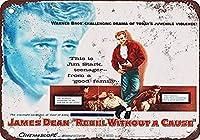 ジェームズディーン反逆者CAUなしブリキ看板壁の装飾金属ポスターレトロプラーク警告サインオフィスカフェクラブバーの工芸品